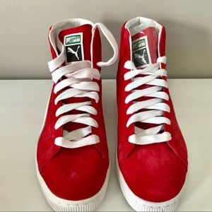 547a8feb07f071 Puma Shoes - Puma NEW Suede mid classic men s sneaker red white